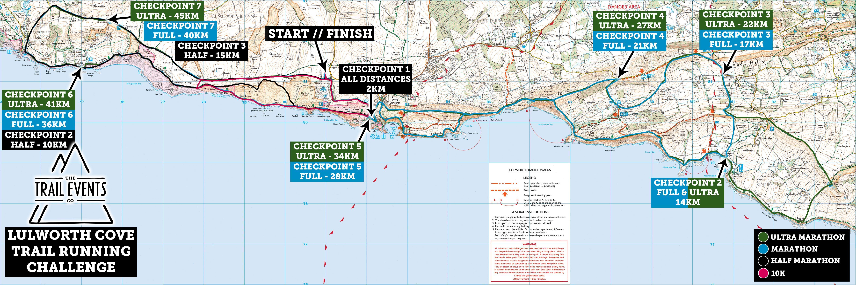 Lulworth Cove 2019 Multi Route